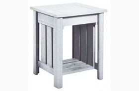 Stratford White End Table