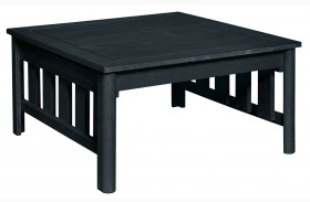 Stratford Black Square Cocktail Table