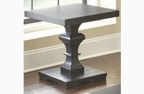Dory Ebony Square End Table