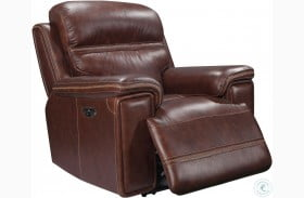 Shae Fresno Brown Leather Power Reclining Chair