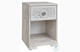 Paxberry White Wash Nightstand