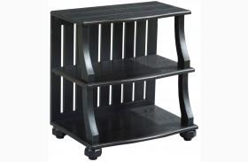 Elm Ridge Black Open Chairside Table