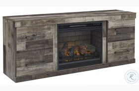 "Derekson Multi Gray 63"" TV Stand With Fireplace"