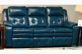 Inspire Peacock Double Reclining Leather Sofa