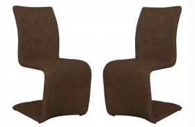 Regis Forma Brown Dining Chair Set of 2