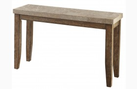 Franco Distressed Driftwood Marble Top Sofa Table