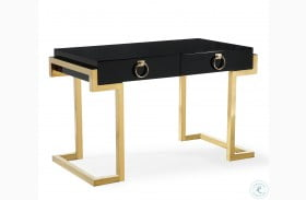 Majesty Black and Gold Desk