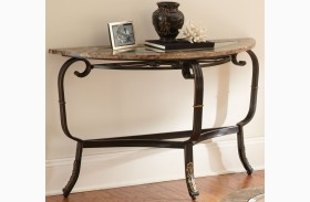 Gallinari Brown Marble Sofa Table