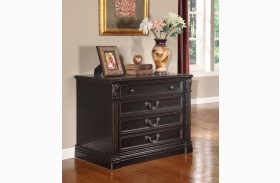 Grand Manor Palazzo Vintage Burnished Black Lateral File