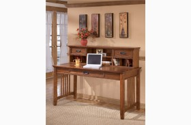 Cross Island Large Leg Desk With Hutch