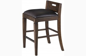 Pine Hill Rustic Pine Upholstered Counter Height Chair