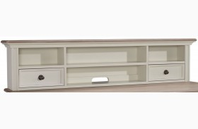 Sarvanny Two-tone Home Office Short Desk Hutch