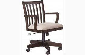 Townser Light Brown Home Office Swivel Desk Chair