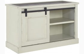 Jonileene White and Gray Home Office Cabinet