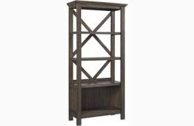 "Johurst Gray 75"" Bookcase"