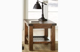 Hailee Industrial End Table