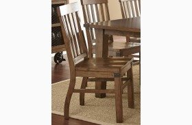Hailee Antique Oak Side Chair Set of 2