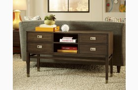 Stratus Umber Brown Pecan Sofa Table