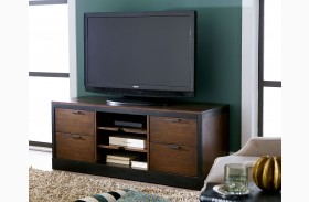 Franklin Warm Cherry Entertainment Console