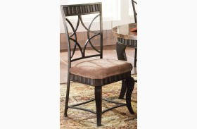 Hamlyn Pewter Bronzed Side Chair Set of 2