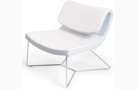 Hollywood White Leatherette Chair