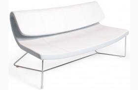 Hollywood White Leatherette Sofa
