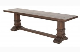 Hudson Rustic Java Large Dining Bench