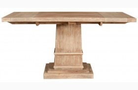 Hudson Stone Wash Square Extendable Pedestal Dining Table