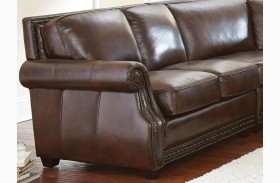 Henry Antique Tobacco Leather LAF Loveseat