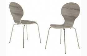 1051 Dark Taupe Bentwood Side Chair Set of 4