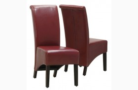 1778BY Burgundy Side Chair Set of 2