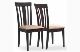 1898 Cappuccino Microfiber Side Chair Set of 2