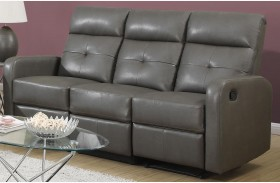 85GY-3 Charcoal Gray Bonded Leather Reclining Sofa
