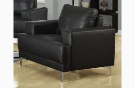 8601BK Black Bonded Leather Chair