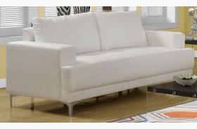 8603IV Ivory Bonded Leather Sofa