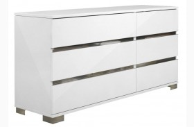 Vivente Icon White High Gloss Double Dresser