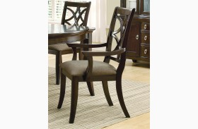 Meredith Espresso Arm Chair Set of 2