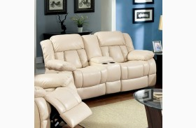 Barbado Ivory Reclining Loveseat