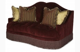 Imperial Court Egg Plant Tufted Loveseat