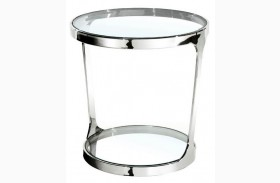 Iris Clear Glass End Table