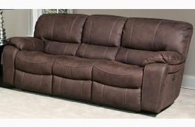 Jupiter Dark Kahlua Dual Reclining Sofa