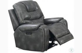 Park Avenue Grey Power Reclining Chair