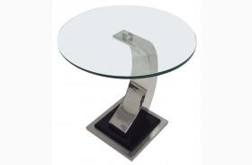 Katniss Glass End Table