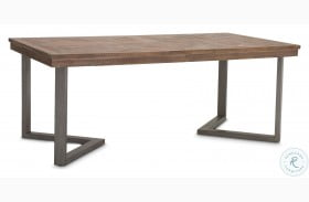 "Hudson Ferry Driftwood 96"" Rectangular Extendable Dining Table"