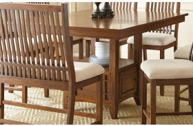 Kayan Extendable Counter Height Storage Dining Table