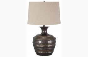 Kymani Antique Brass Finish Metal Table Lamp