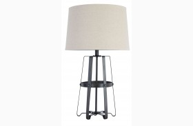 Antique Black Metal Table Lamp