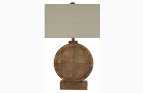 Natural/Brown Wood Table Lamp
