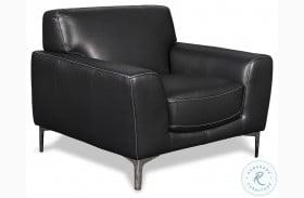 Carrara Black Leather Chair