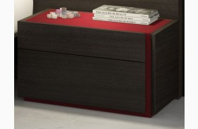 Lagos Natural Light Grey Lacquer RAF Nightstand